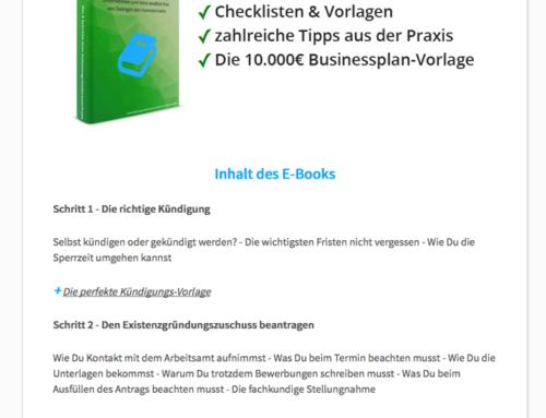 Existenzgründerzuschuss E-Book