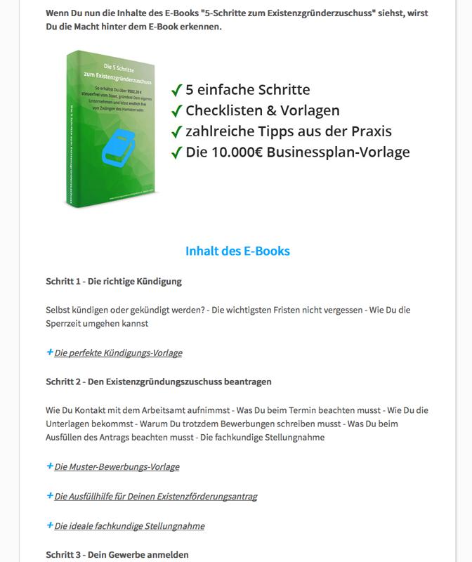 Existenzgruenderzuschuss E-Book