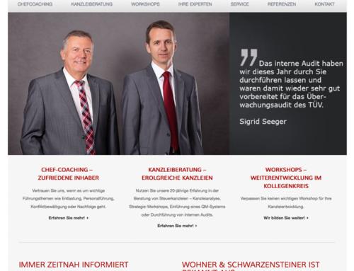 Kanzleientwicklung Wohner & Schwarzensteiner